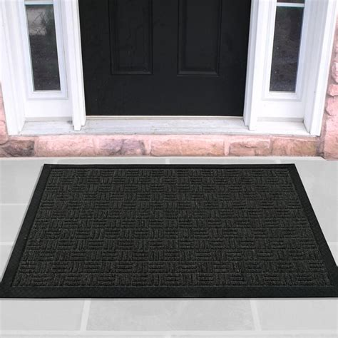 indoor entry mats ottomanson charcoal 24 in x 36 in loop carpet
