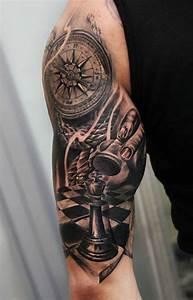 474 best images about Tattoo Uhren Kompass Sanduhren on ...
