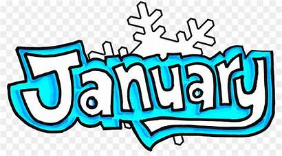 January Clipart Clip Transparent Enero Primary Word