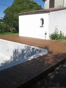 Terrasse Bois Sur Terre : pose terrasse bois sur terre meuble ~ Dailycaller-alerts.com Idées de Décoration