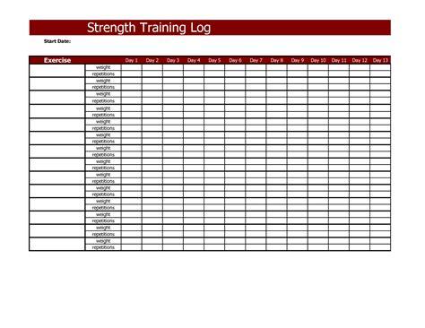 strength training log strength training strength