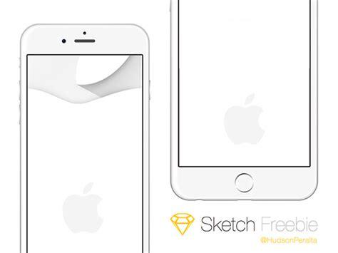 sketch iphone template iphone 6 6 plus mockups sketch freebiesbug