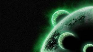 Green outer space stars planets wallpaper   1920x1080 ...