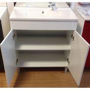meuble de salle de bain avec vasque et miroir With porte d entrée alu avec double vasque salle de bain 120 cm