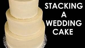 How to Make a Wedding Cake: Stacking a 3 Tier Wedding Cake