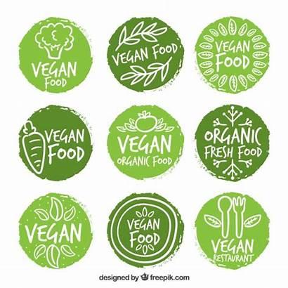 Vegan Vectors Labels Organic Vegetarian Psd Vector
