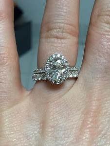 show me your wedding band with an oval engagement ring With wedding band for oval engagement ring