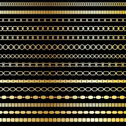 Chain Patterns Gold Border Mod Vector Oval