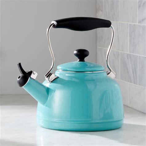 Kitchen Living Tea Kettle by Chantal Vintage Aqua Steel Enamel Tea Kettle Reviews