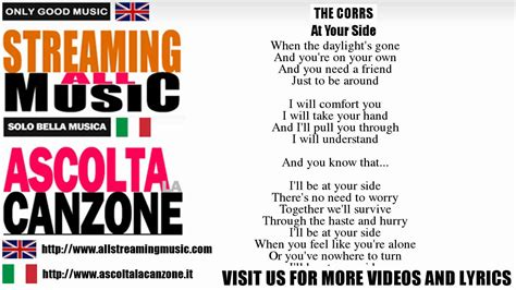 We Are The World Testo Italiano by The Corrs At Your Side Lyrics Testo