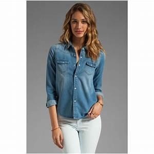 Style tips on denim shirts for women - YasminFashions