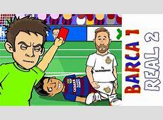 Barcelona 1 Real Madrid 2 El Clasico the cartoon