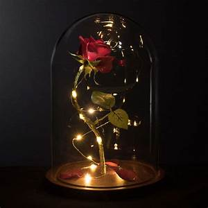 Rose In Glas : enchanted rose life sized from beauty and the beast ~ Frokenaadalensverden.com Haus und Dekorationen