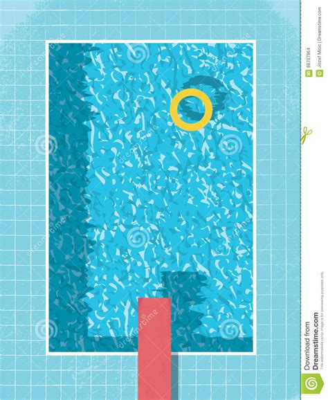 swimming pool top view  inflatable ring preserver