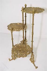 Ornate, Victorian, Brass, Plant, Stand