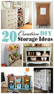 20 Creative DIY Storage Ideas {Mostly Repurposed or