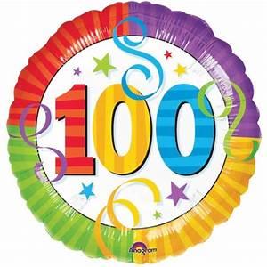 Ballon Anniversaire 100 Ans à Hélium Pictures