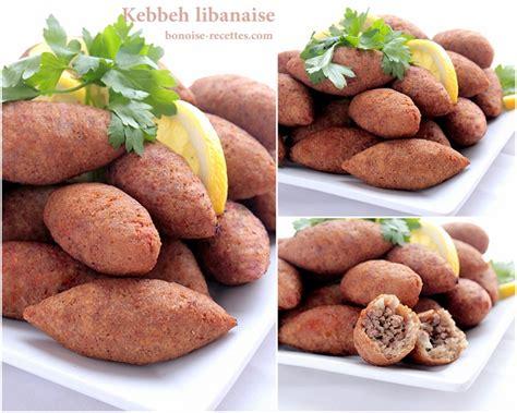 recettes de cuisine libanaise kebbeh ou kebbe entree libanaise