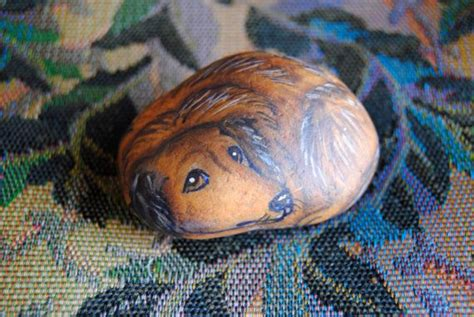 Haired Datsun haired dachshund datsun painted rock