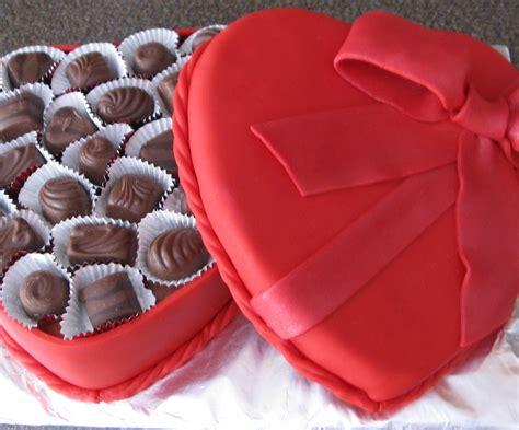 valentines chocolate box cake