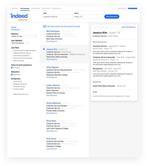 Indeed Find Resumes by Featured Employer Indeed