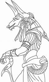 Anubis Egyptian God Drawings Sketch Deviantart Render Coloring Template Larger Credit sketch template