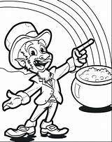 Leprechaun Coloring Pages Mining Printable Gold Hat Getcolorings Sheets Border Mpmschoolsupplies sketch template