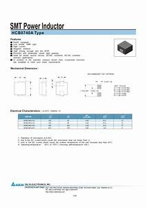 Smt Power Inductor Hcb0740a Manuals
