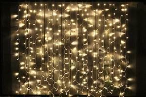 CURTAIN Fairy Lights - 2m x 2m - black cable