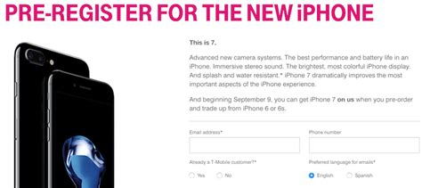 trade in iphone tmobile t mobile offering free 32gb iphone 7 during pre order with