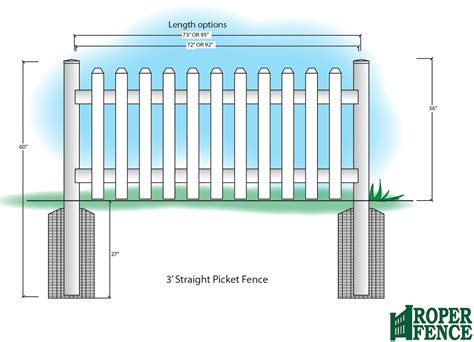fence height picket fences roper fence at roper fence com