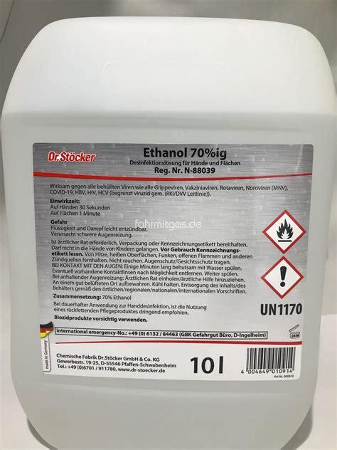 ethanol ig hand und flaechen desinfektion  liter