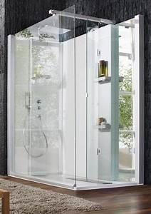 cabines de douches modernes ciabizcom With carrelage adhesif salle de bain avec cabine de douche leda avis