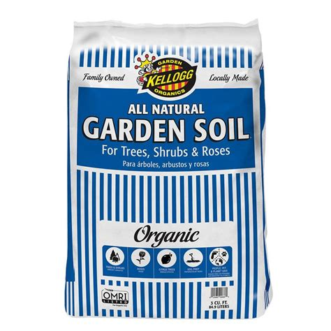 kellogg 3 cu ft organic all garden soil for