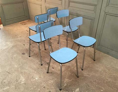 chaises formica ensemble de 6 chaises formica bleues