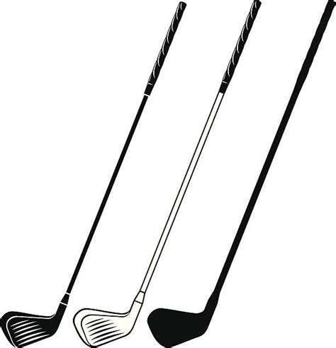 Golf Club Clipart Vector Clipart Golf Club Pencil And In Color Vector
