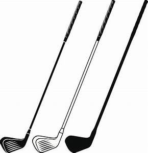 Vector clipart golf club - Pencil and in color vector ...