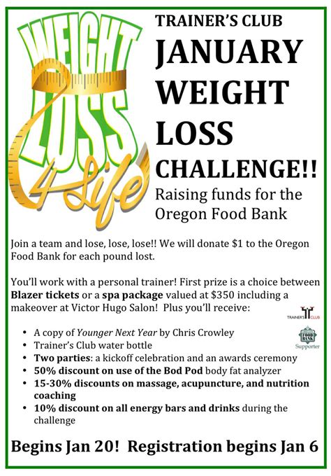 weight loss challenge flyer template weight loss challenge 2015 raising funds for the oregon food bank begins january 20 register