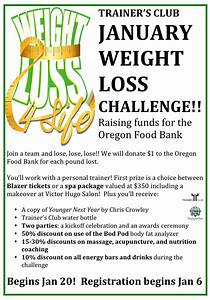 weight loss challenge 2015 raising funds for the oregon With weight loss challenge flyer template
