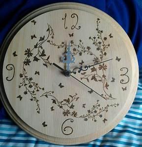 Pyrography, Clock, I, Made