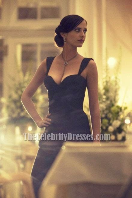 eva green schwarz ruffle formal abendkleid casino royale