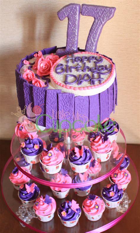sweet 17th pink purple miss cupcake