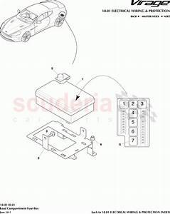 Aston Martin Virage Load Comparetment Fuse Box Parts
