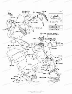 Kawasaki Motorcycle 2006 Oem Parts Diagram For Fuel Tank