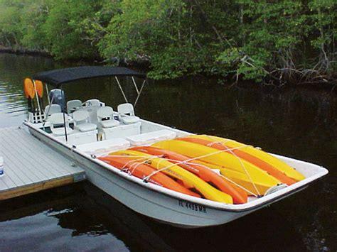 Skiff Kayak Launch by Mothership Kayak Boat Cruises Corolla Jeep Adventures