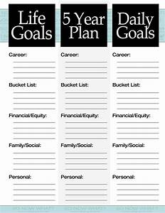 the 3 steps to a 5 year plan filing goal and journal With this is your life template