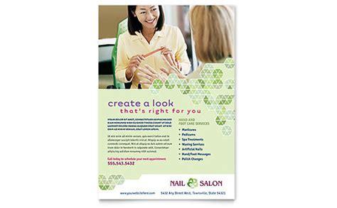 nail salon business card letterhead template design