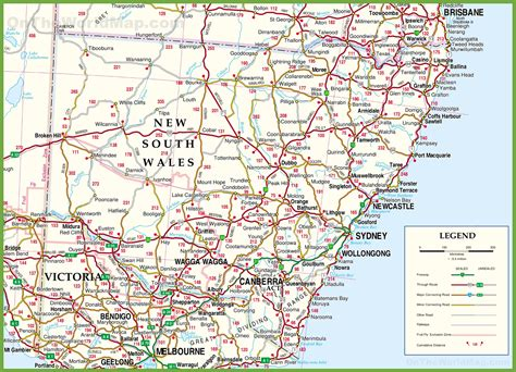 large detailed map   south wales  cities  towns