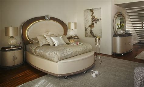 aico overture creamy pearl upholstered bedroom set qn
