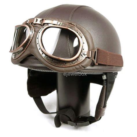 vintage motocross helmet vintage motorcycle motorbike scooter half leather helmet
